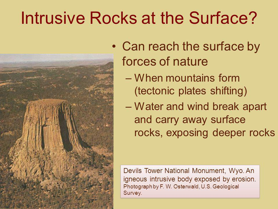 Intrusive Rocks at the Surface