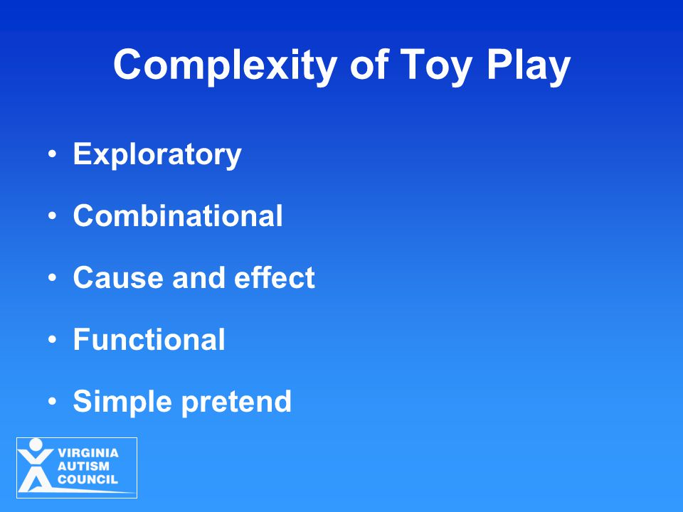 Complexity of Toy Play Exploratory Combinational Cause and effect