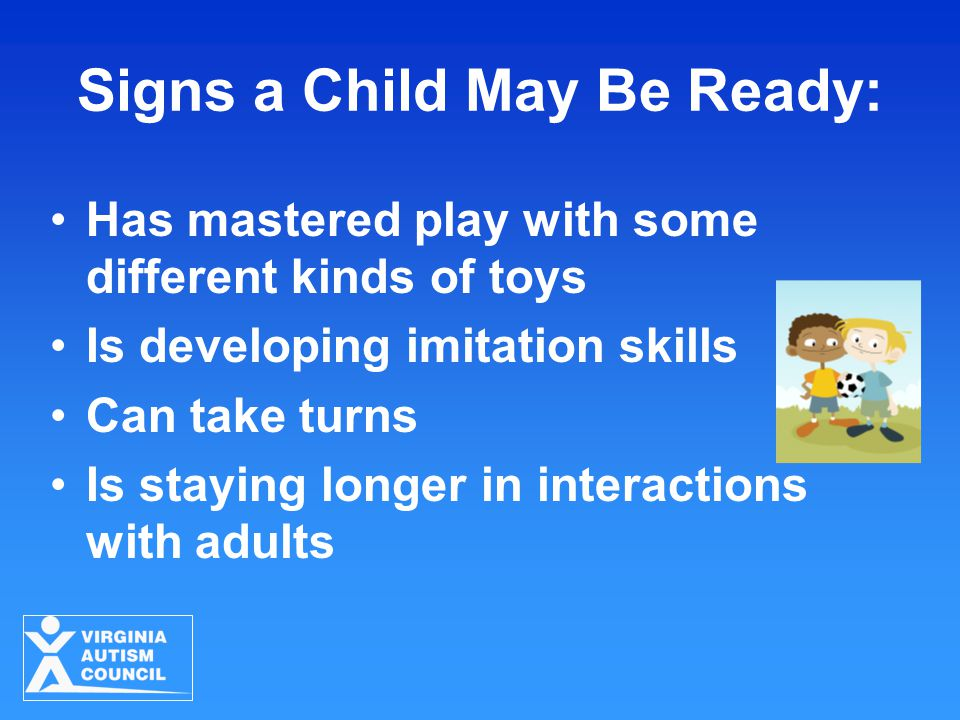 Signs a Child May Be Ready: