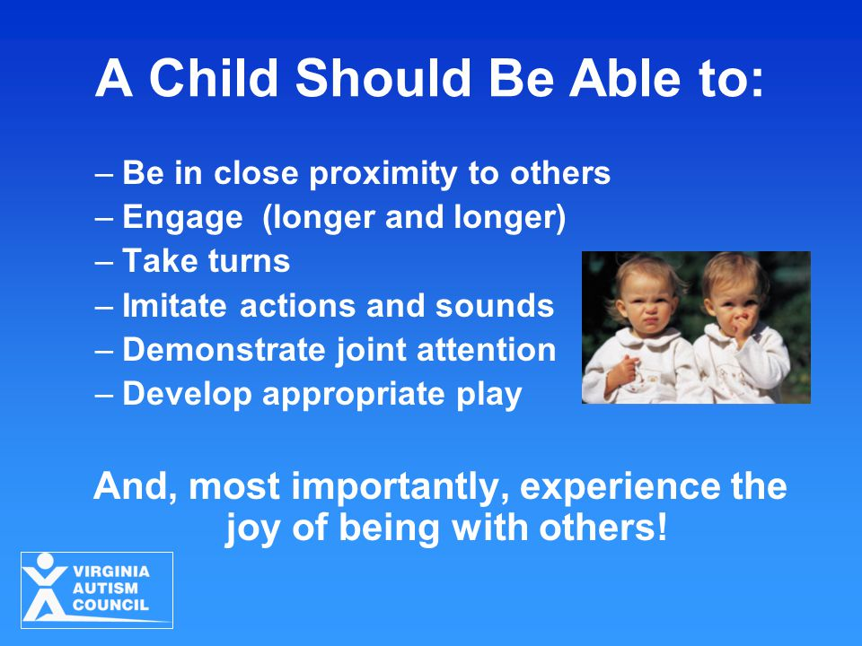 A Child Should Be Able to: