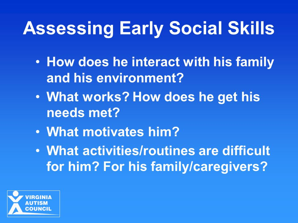 Assessing Early Social Skills