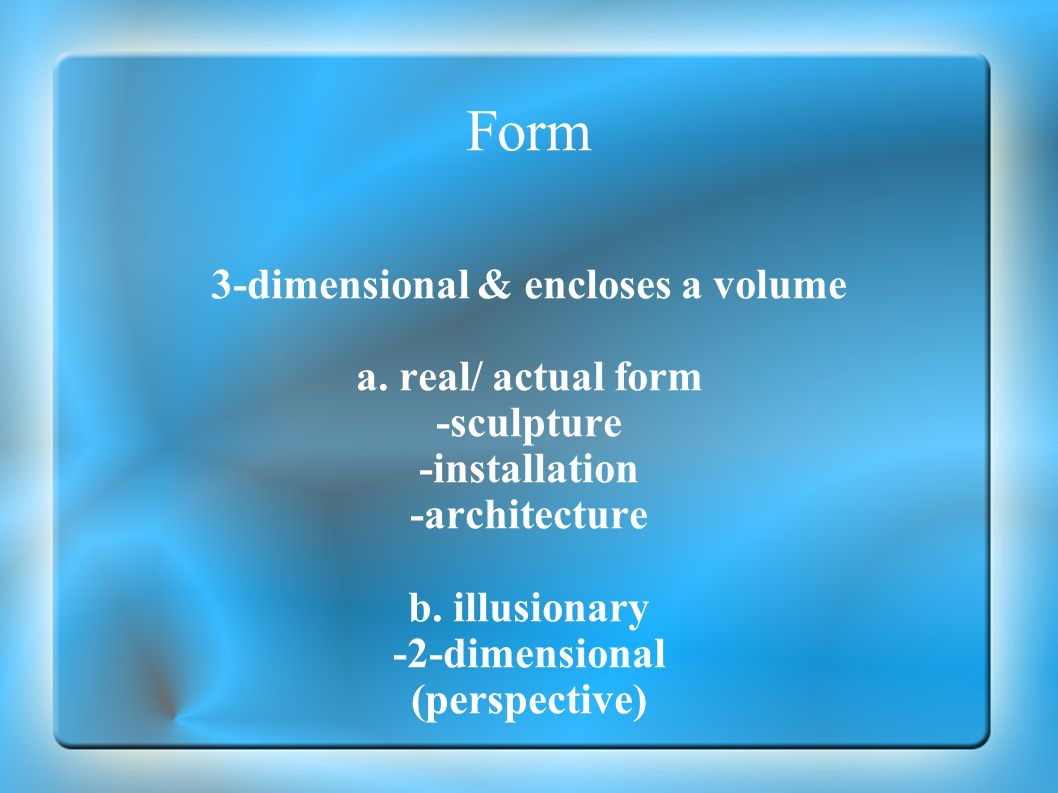 3-dimensional & encloses a volume