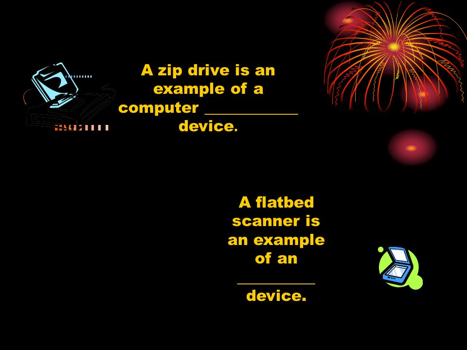 A flatbed scanner is an example of an __________ device.