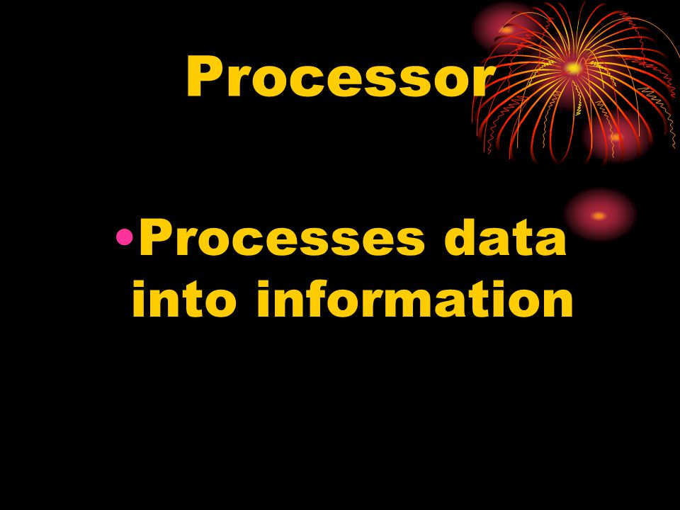 Processes data into information