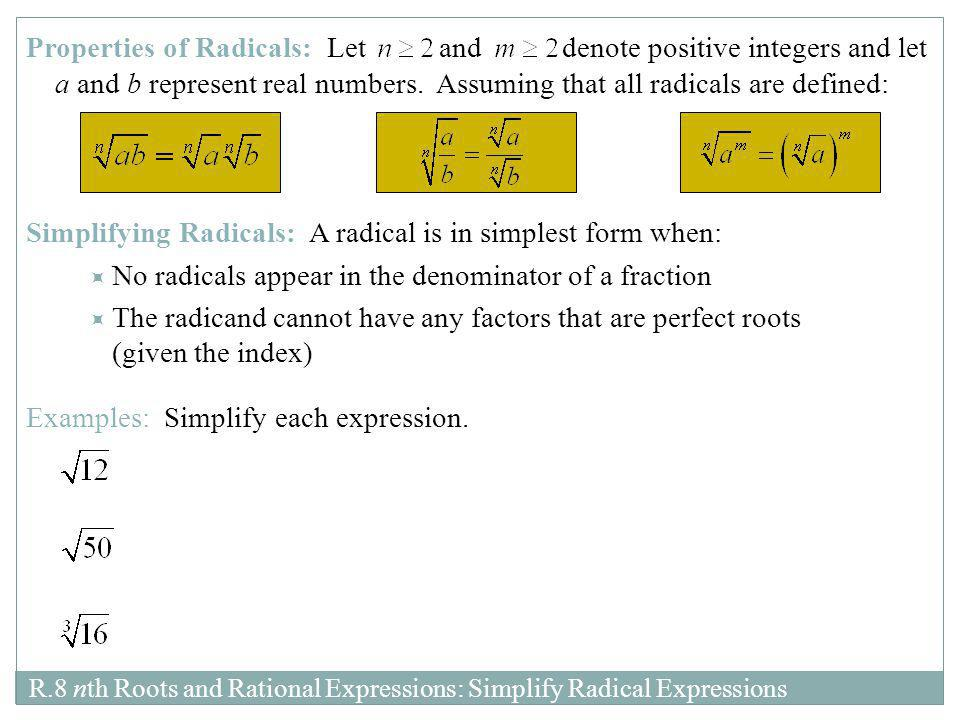 Chapter R Section 8: nth Roots and Rational Exponents - ppt download
