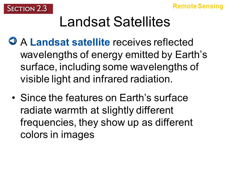 Remote Sensing Landsat Satellites.