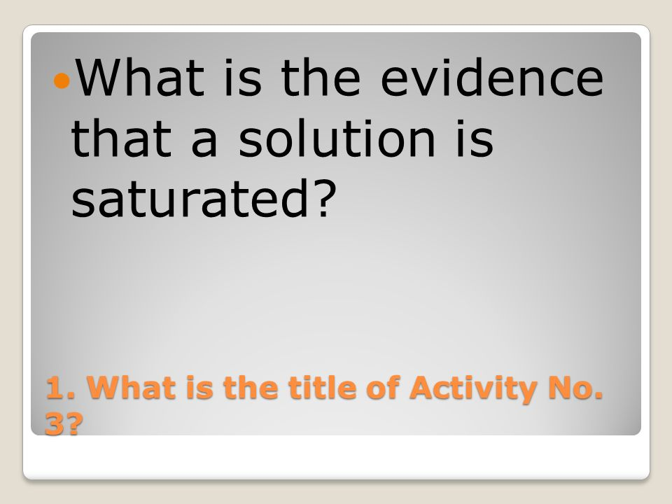 1. What is the title of Activity No. 3