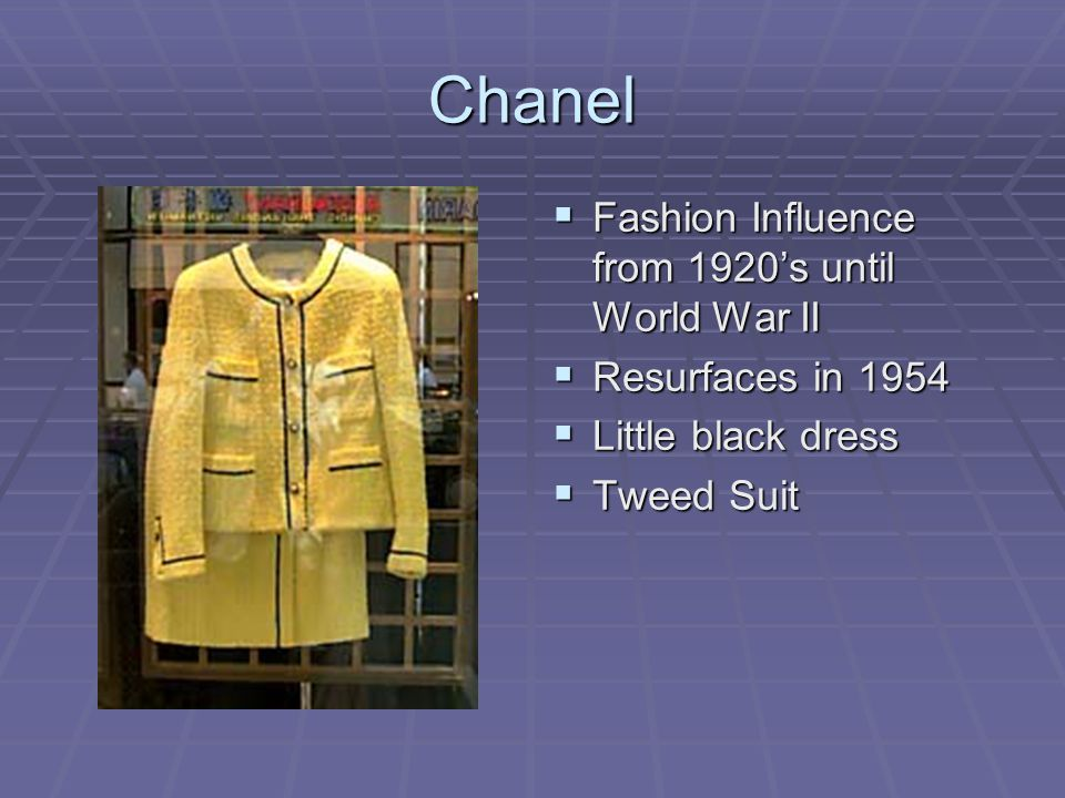 Chanel Fashion Influence from 1920's until World War II