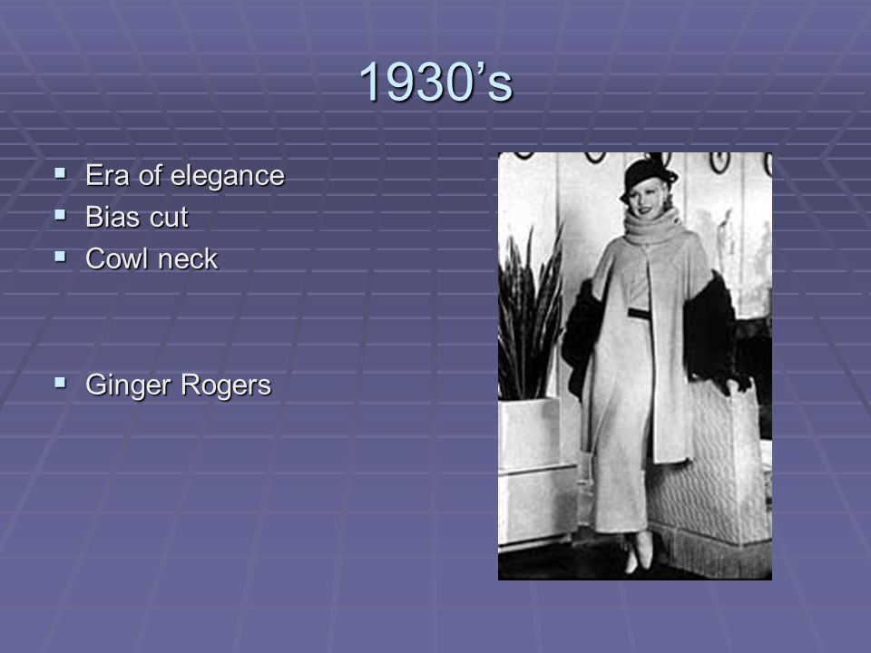 1930's Era of elegance Bias cut Cowl neck Ginger Rogers
