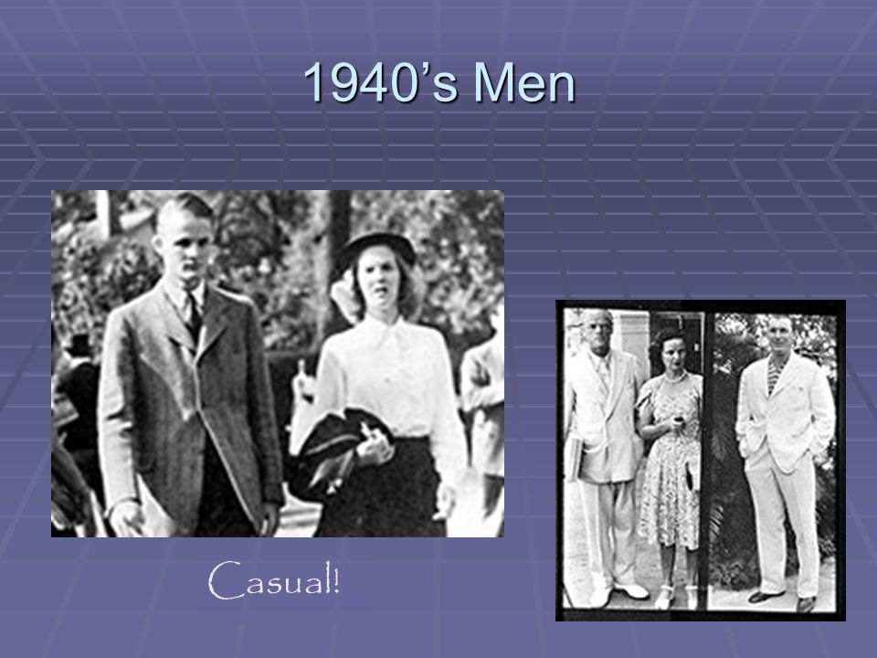 1940's Men Casual!