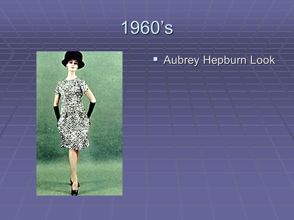 1960's Aubrey Hepburn Look