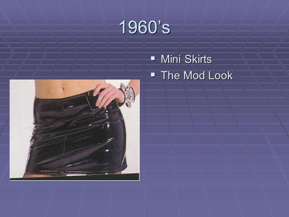 1960's Mini Skirts The Mod Look