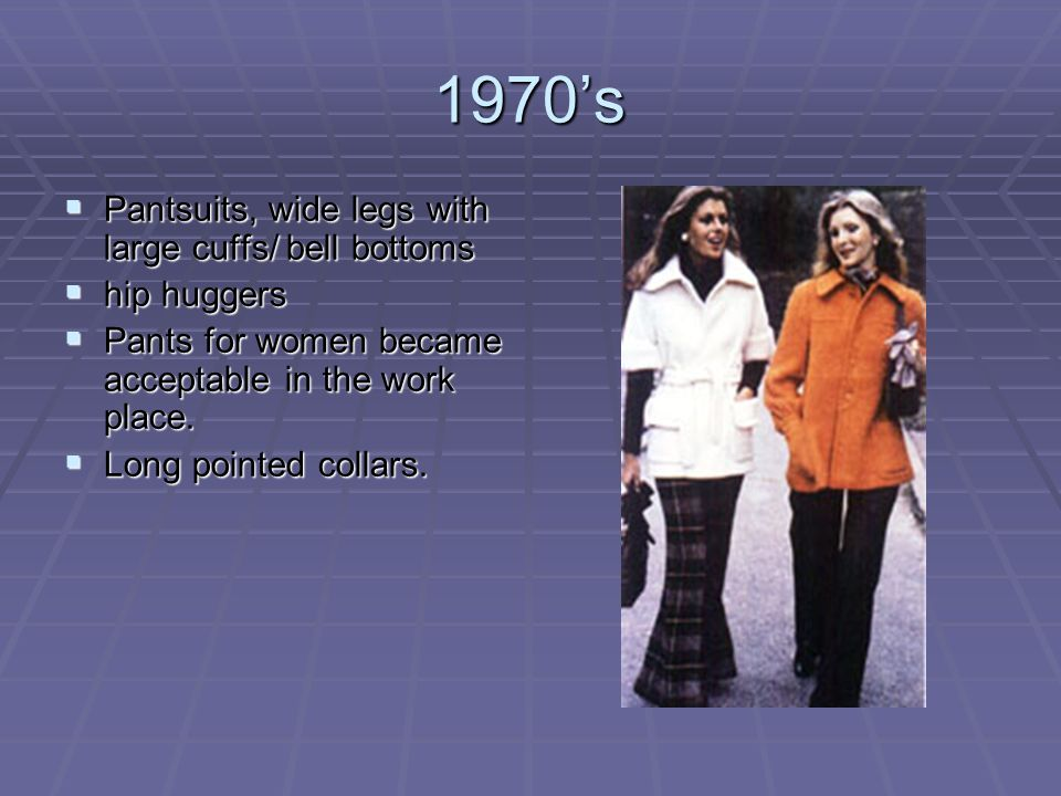 1970's Pantsuits, wide legs with large cuffs/ bell bottoms hip huggers
