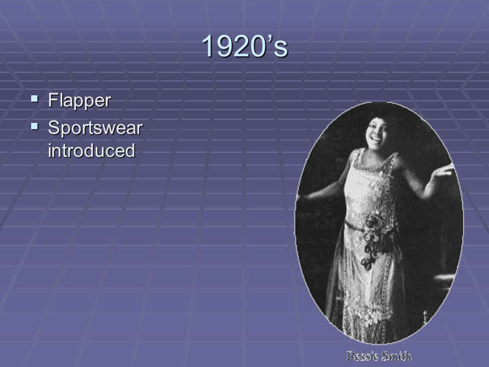 1920's Flapper Sportswear introduced