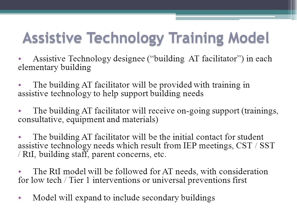 Assistive Technology Training Model