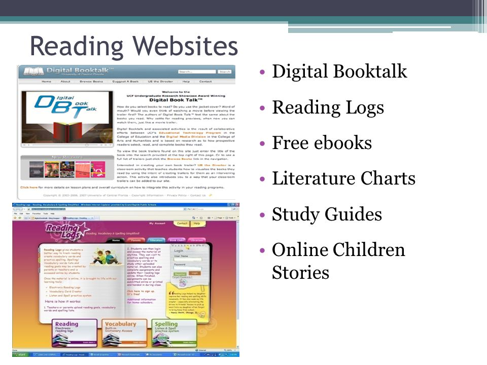 Reading Websites Digital Booktalk Reading Logs Free ebooks