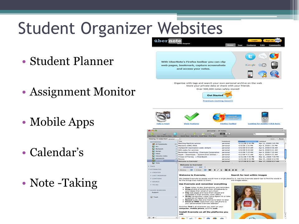 Student Organizer Websites