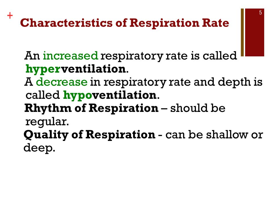 Characteristics of Respiration Rate