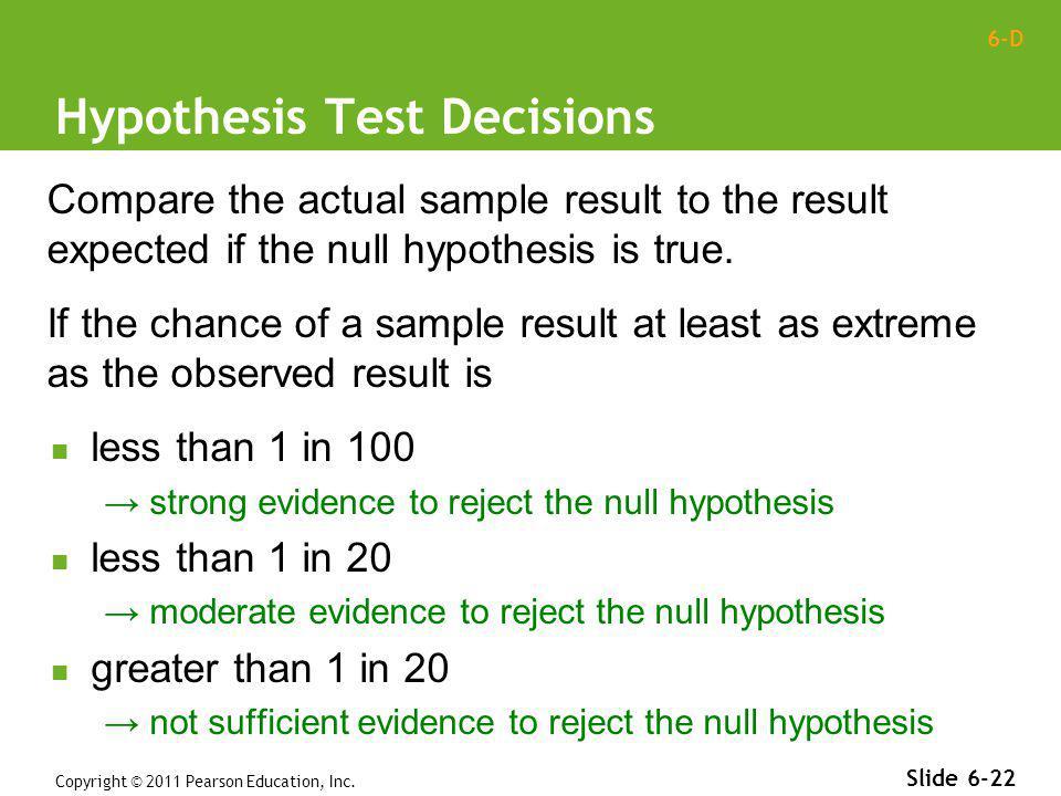 Hypothesis Test Decisions