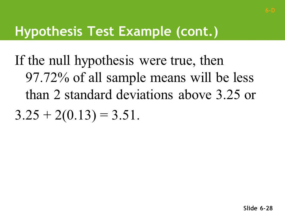 Hypothesis Test Example (cont.)