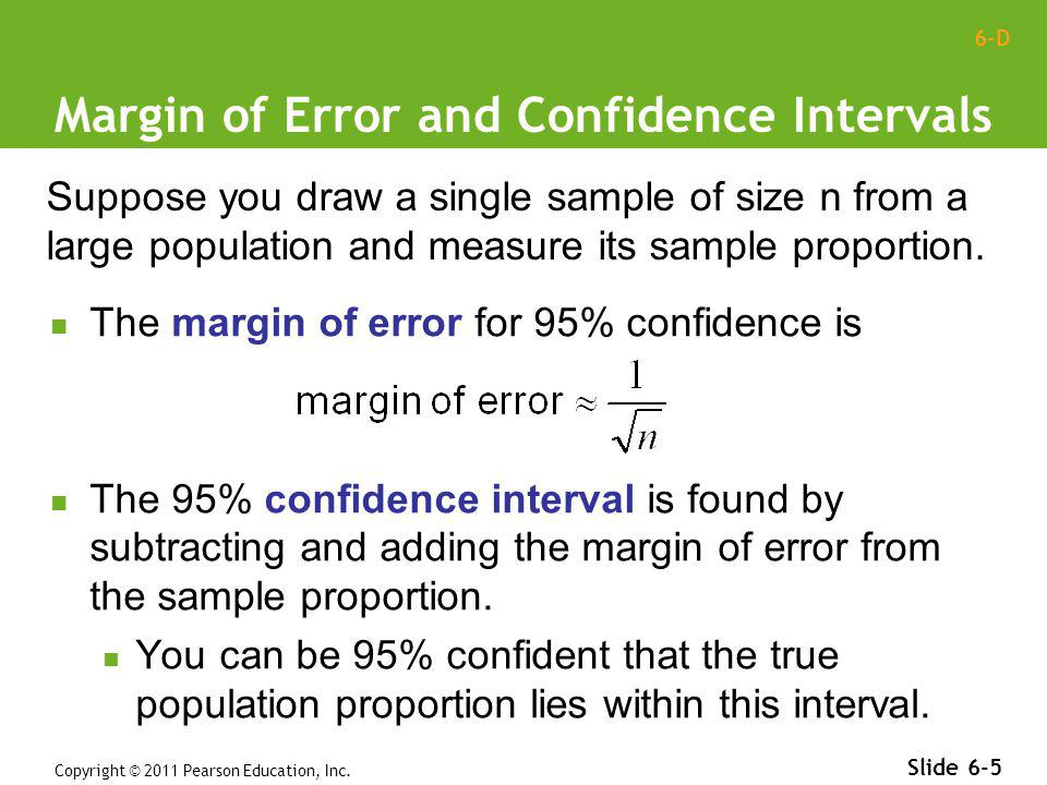 Margin of Error and Confidence Intervals
