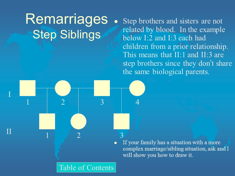 Remarriages Step Siblings