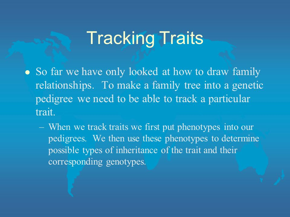 Tracking Traits