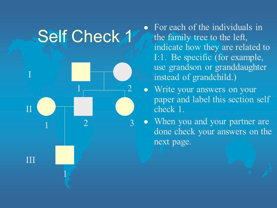 Self Check 1
