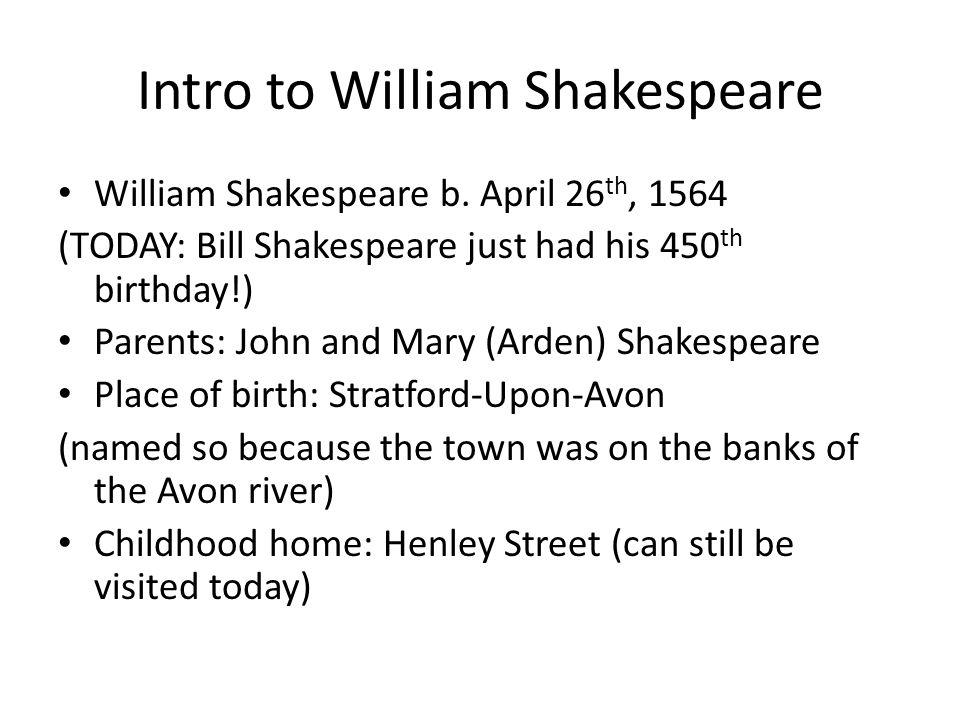 Intro to William Shakespeare