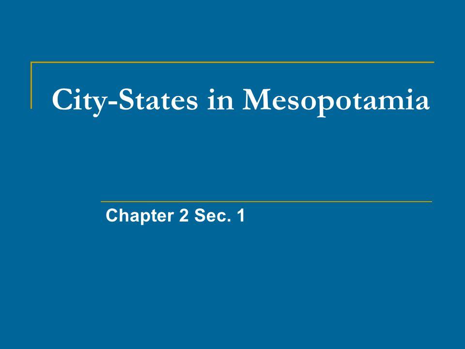 City-States in Mesopotamia