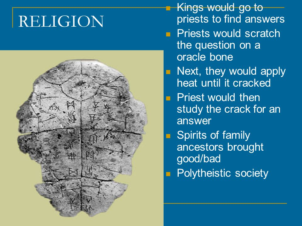 RELIGION Kings would go to priests to find answers