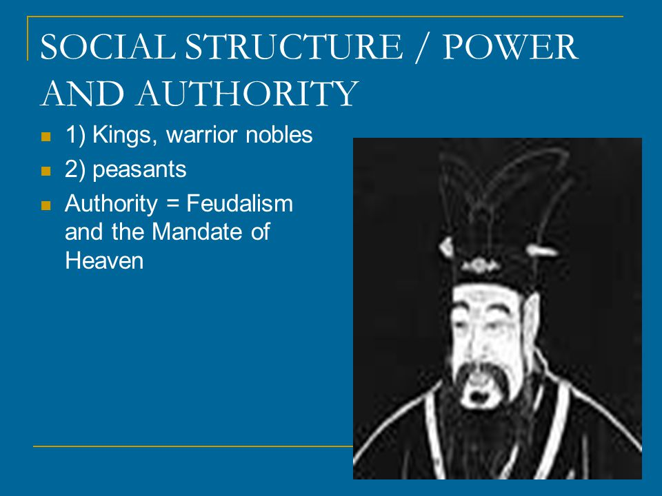SOCIAL STRUCTURE / POWER AND AUTHORITY