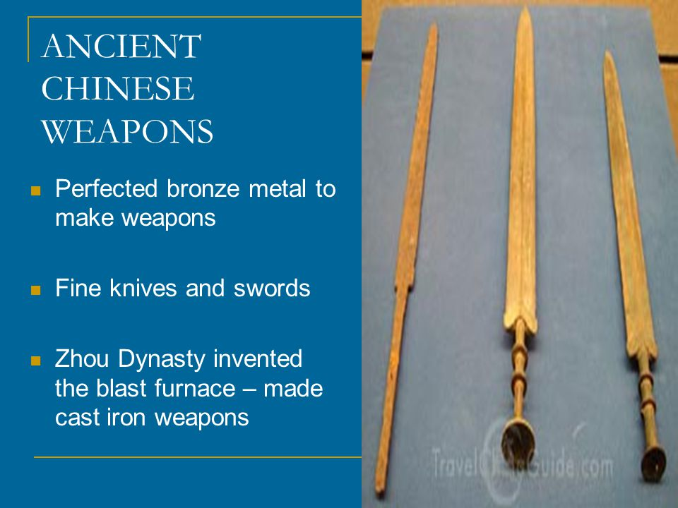 ANCIENT CHINESE WEAPONS