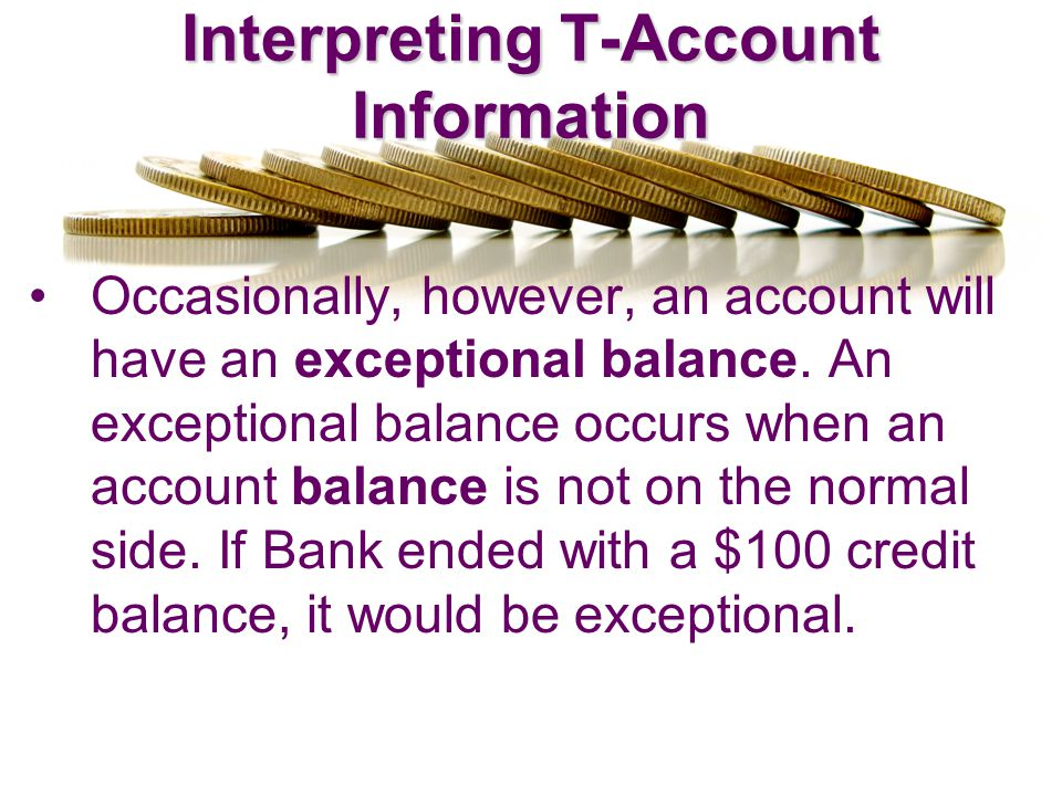 Interpreting T-Account Information