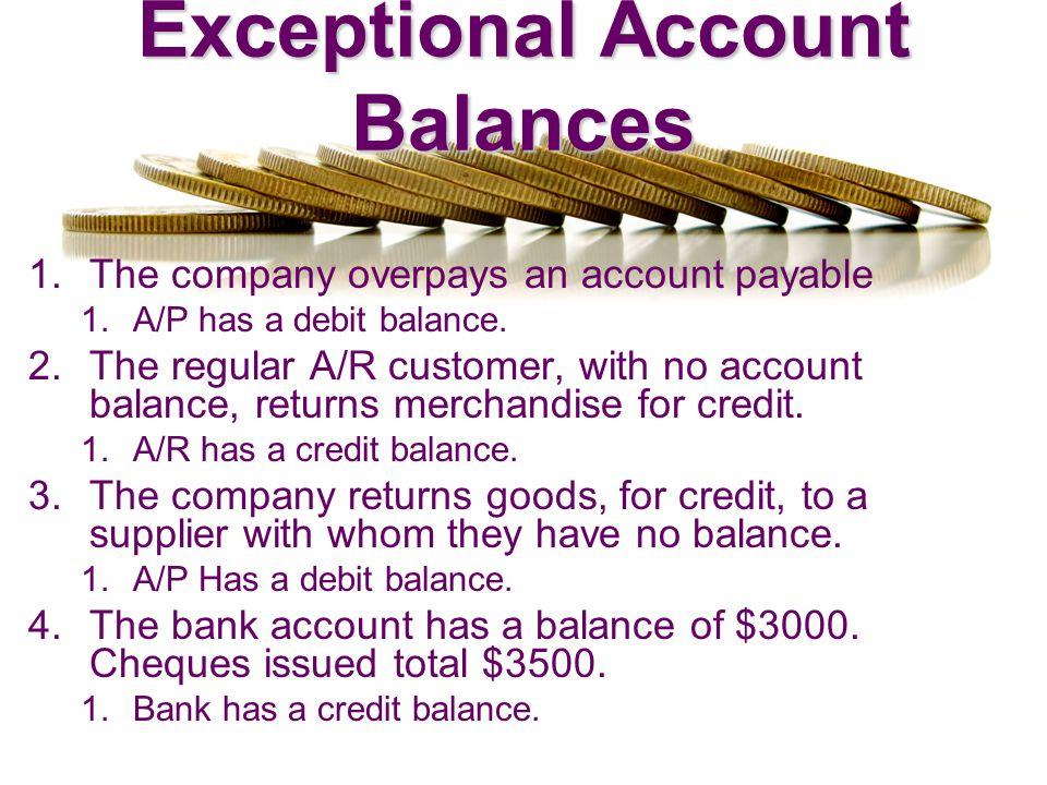 Exceptional Account Balances