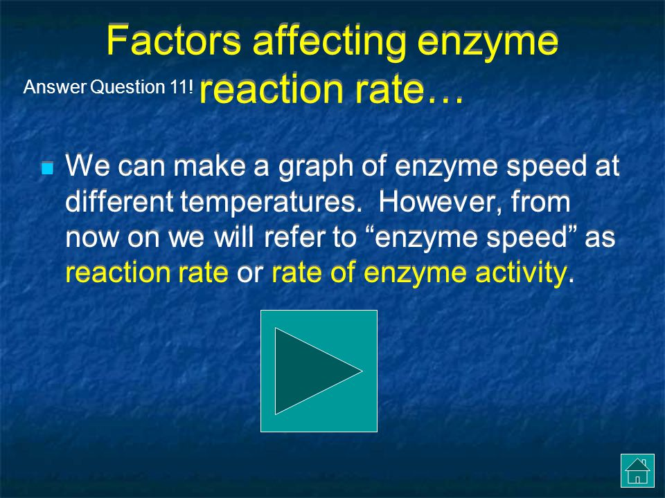 Factors affecting enzyme reaction rate…