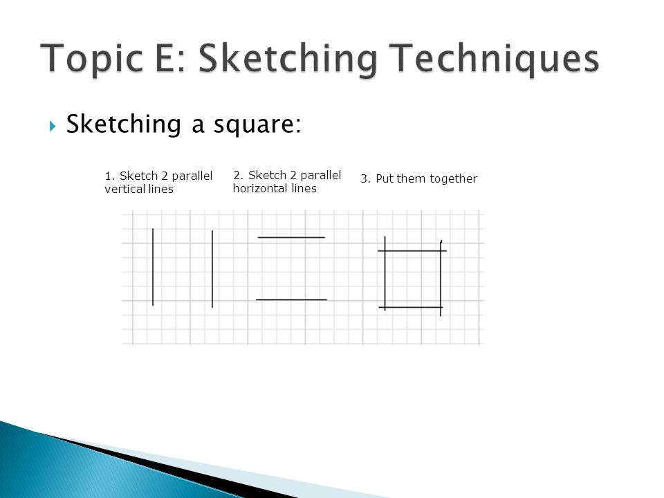 Topic E: Sketching Techniques