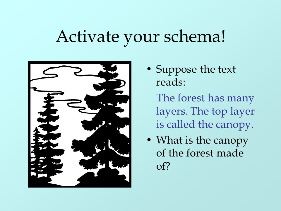 Activate your schema! Suppose the text reads:
