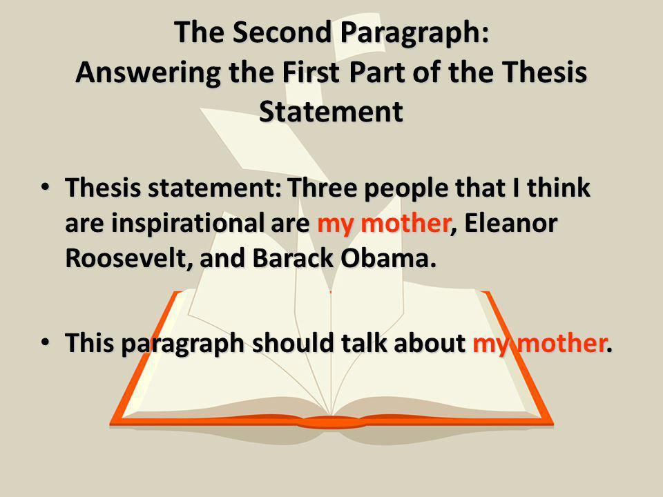 part of thesis A complex thesis statement for a long paper may be part of a thesis paragraph but it's hard to go wrong if you put your thesis first useful formulae for thesis statements if you're not sure whether you have a good thesis statement, see whether you can fit your ideas into one of these basic patterns [something] [does something].