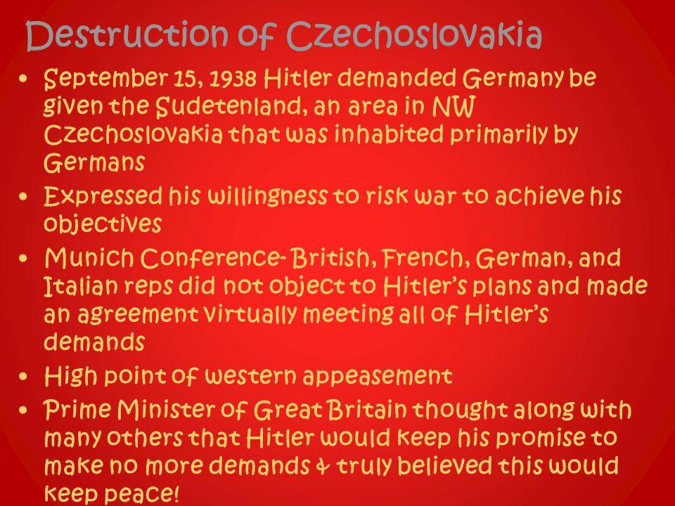 Destruction of Czechoslovakia