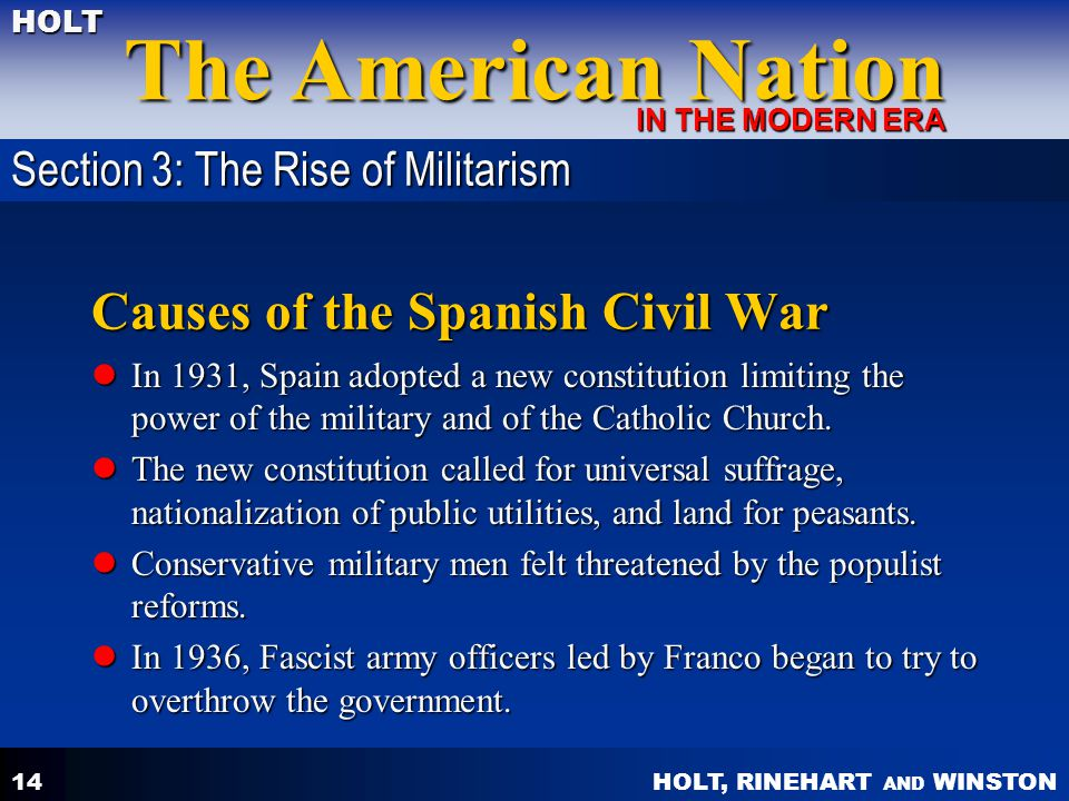 Causes of the Spanish Civil War