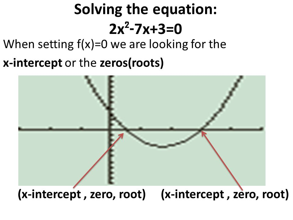 Solving the equation: 2x²-7x+3=0
