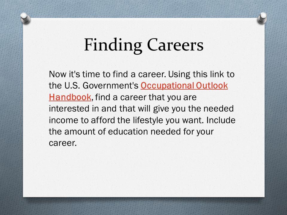 Finding Careers