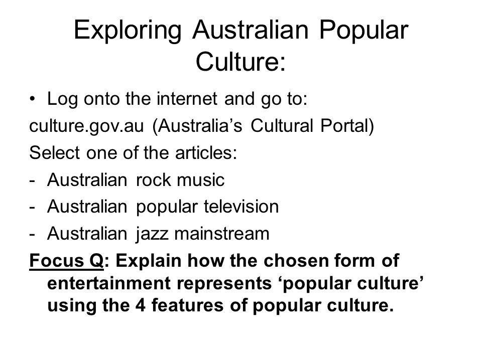 Exploring Australian Popular Culture: