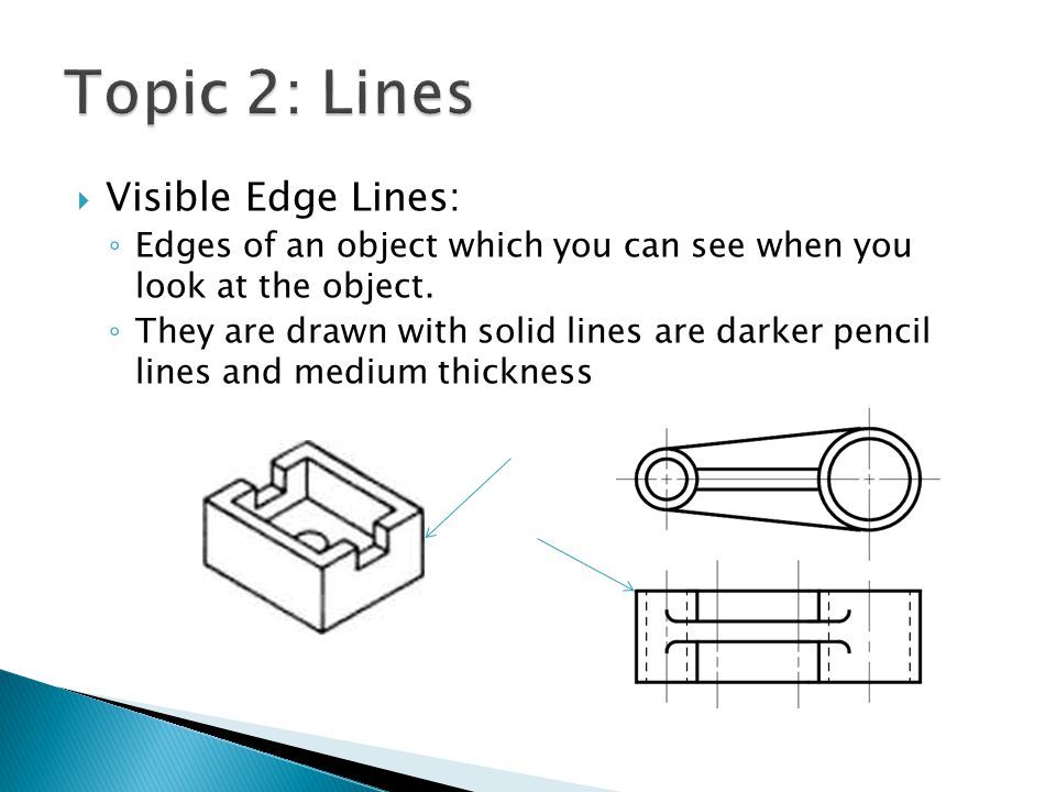 Topic 2: Lines Visible Edge Lines: