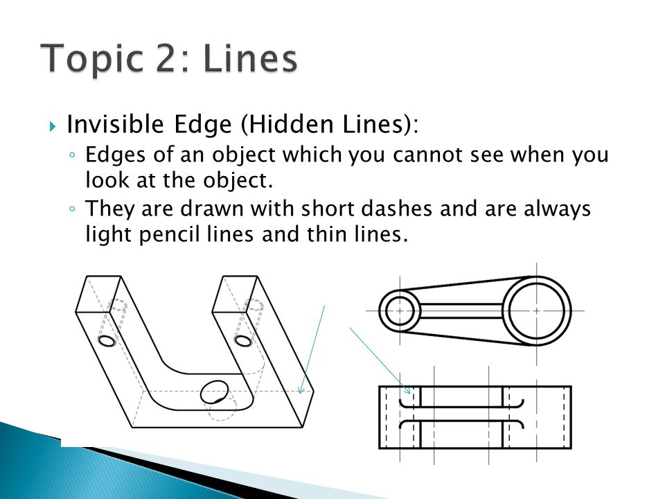 Topic 2: Lines Invisible Edge (Hidden Lines):