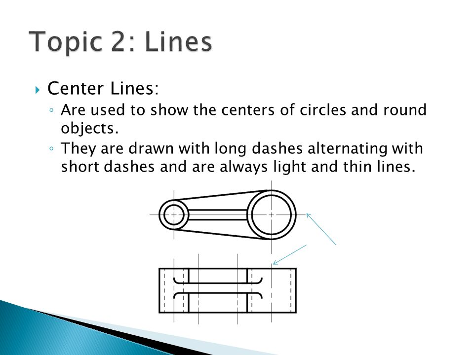 Topic 2: Lines Center Lines: