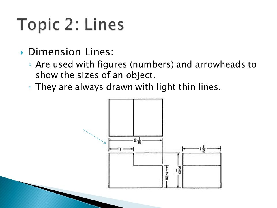 Topic 2: Lines Dimension Lines: