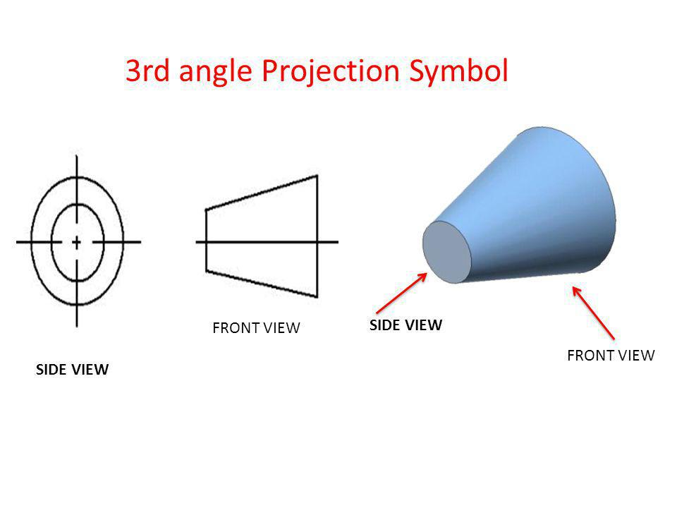 3rd angle Projection Symbol