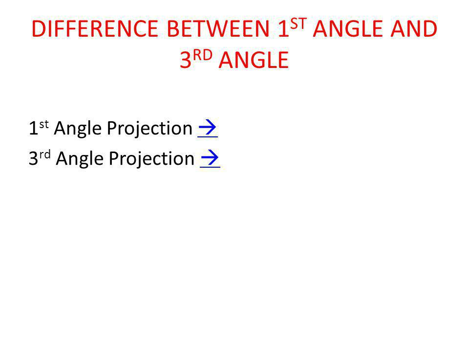 DIFFERENCE BETWEEN 1ST ANGLE AND 3RD ANGLE